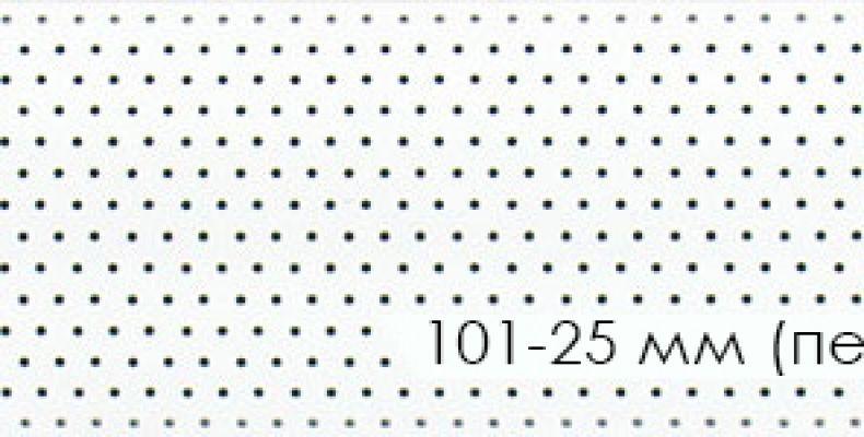 101-25 mm (перфорация)